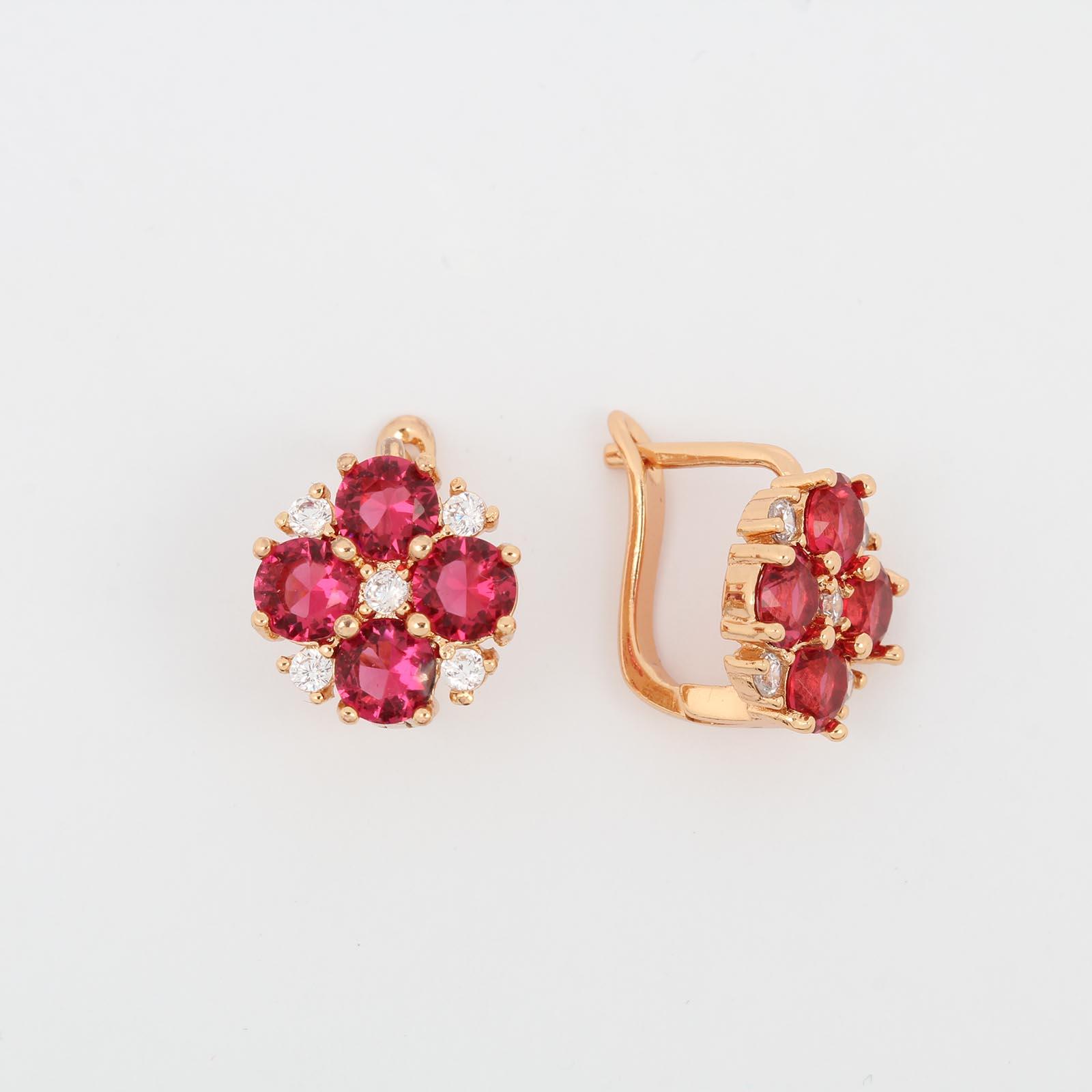 Серьги «Розовый сад»