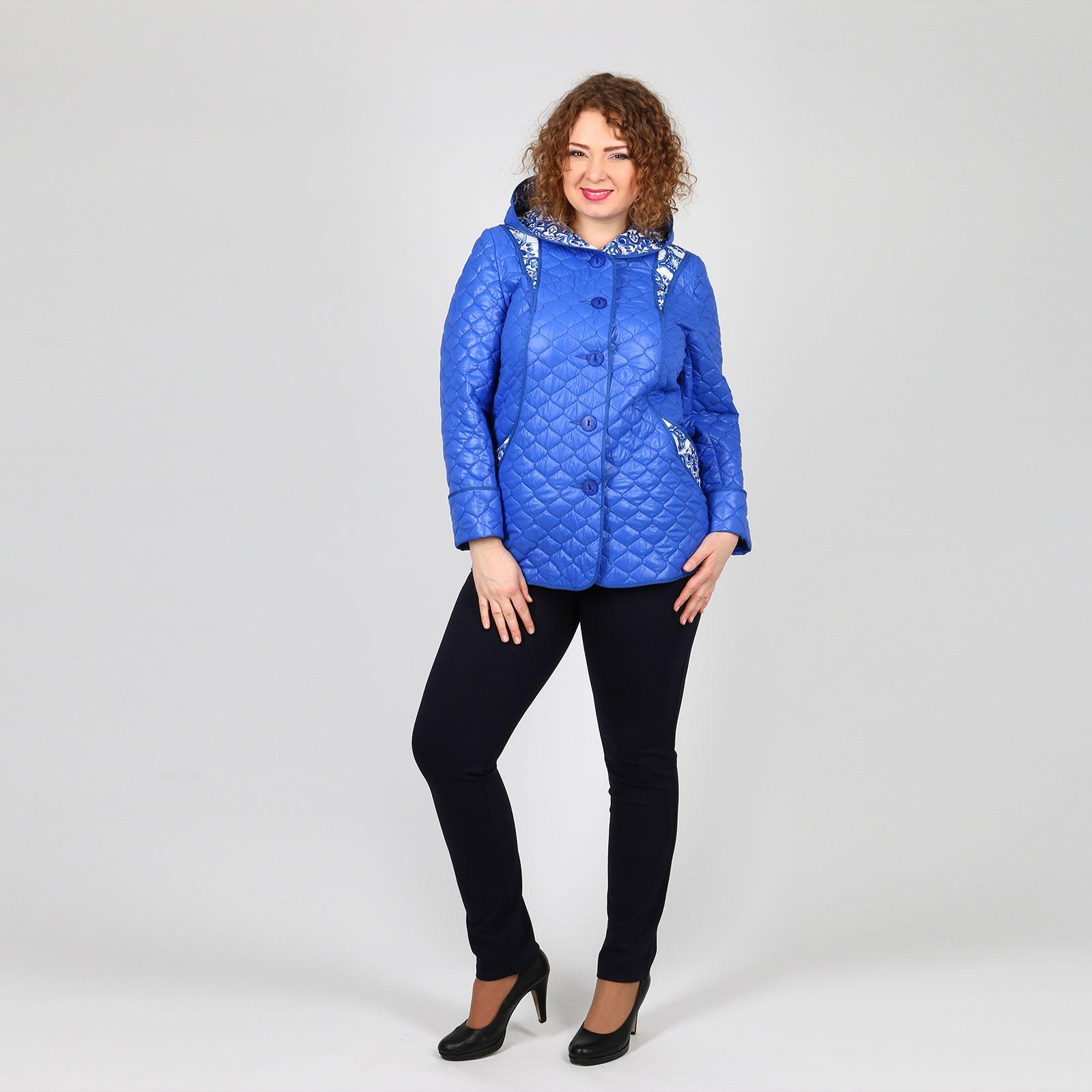Куртка стеганая с контрастными вставками