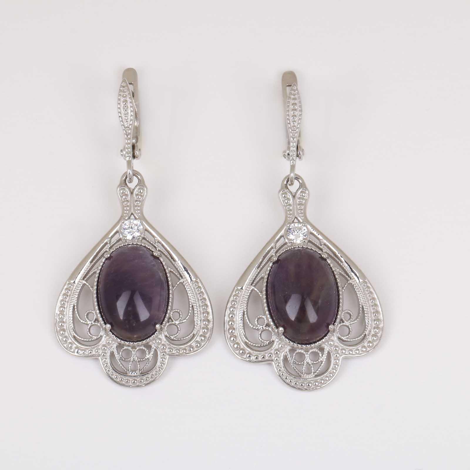 Серебряные серьги «Очарование»