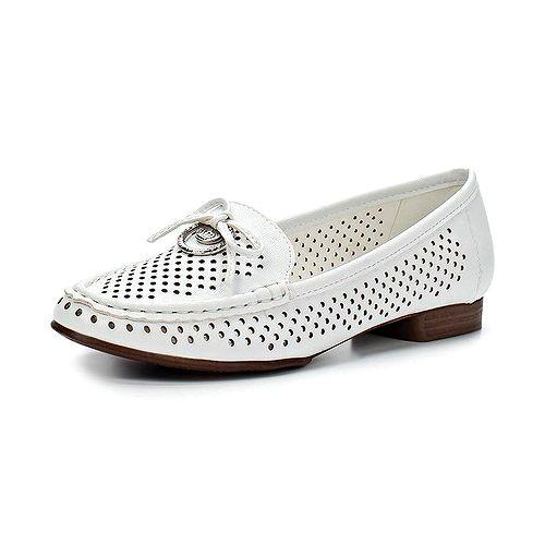 Женские туфли с перфорацией и бантиком
