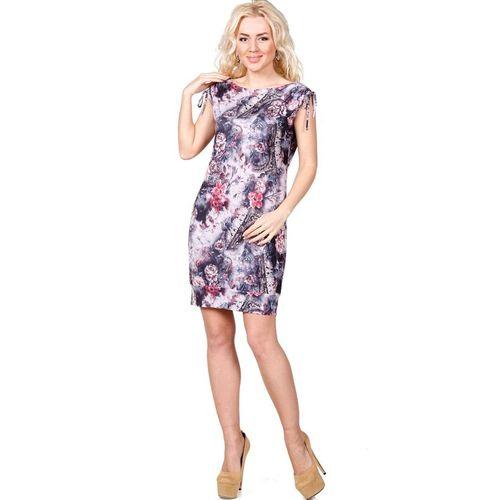 Платье с принтом «Цветочная акварель» виброплатформы для похудения в алматы в интернет магазине