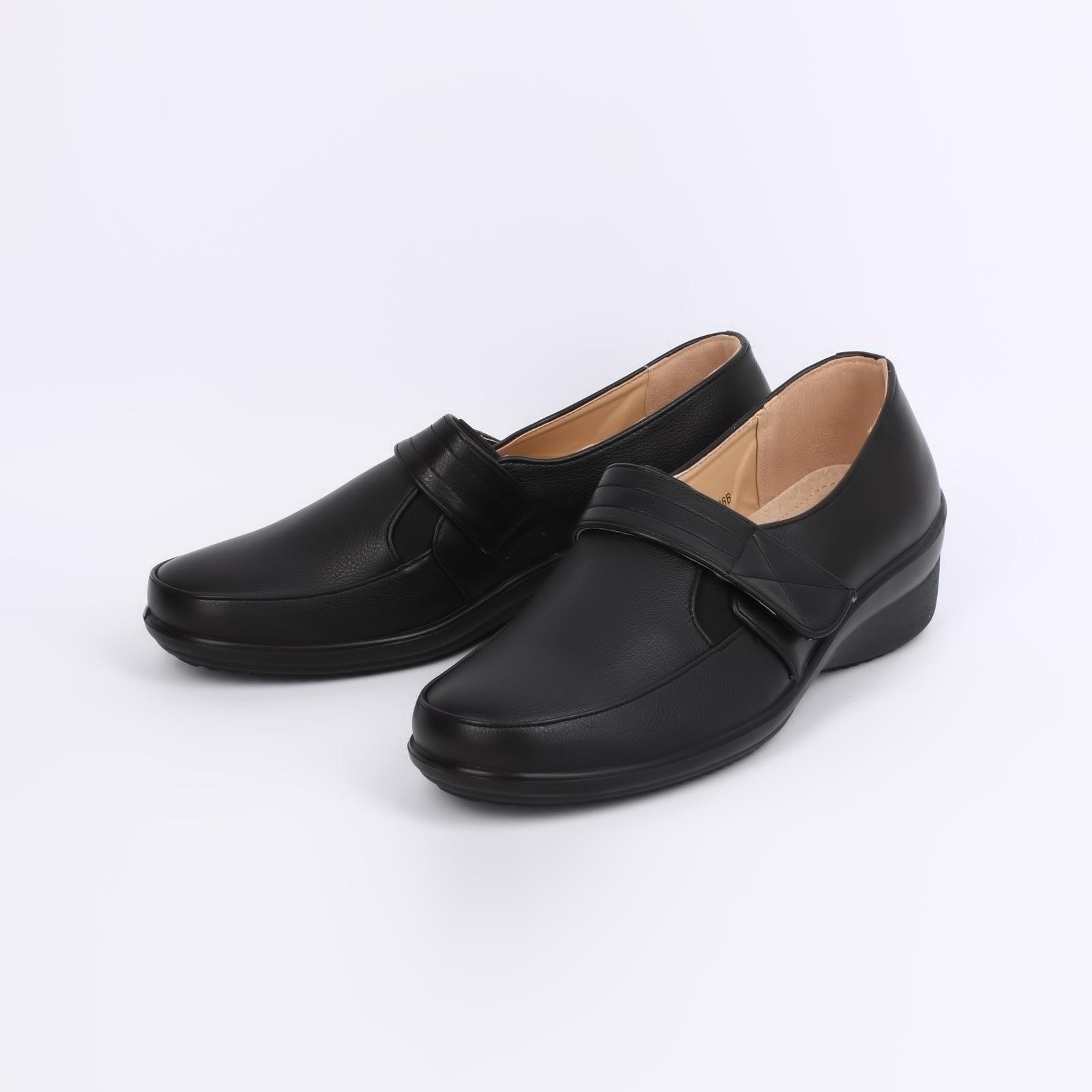 Туфли женские со вставкой на липучке