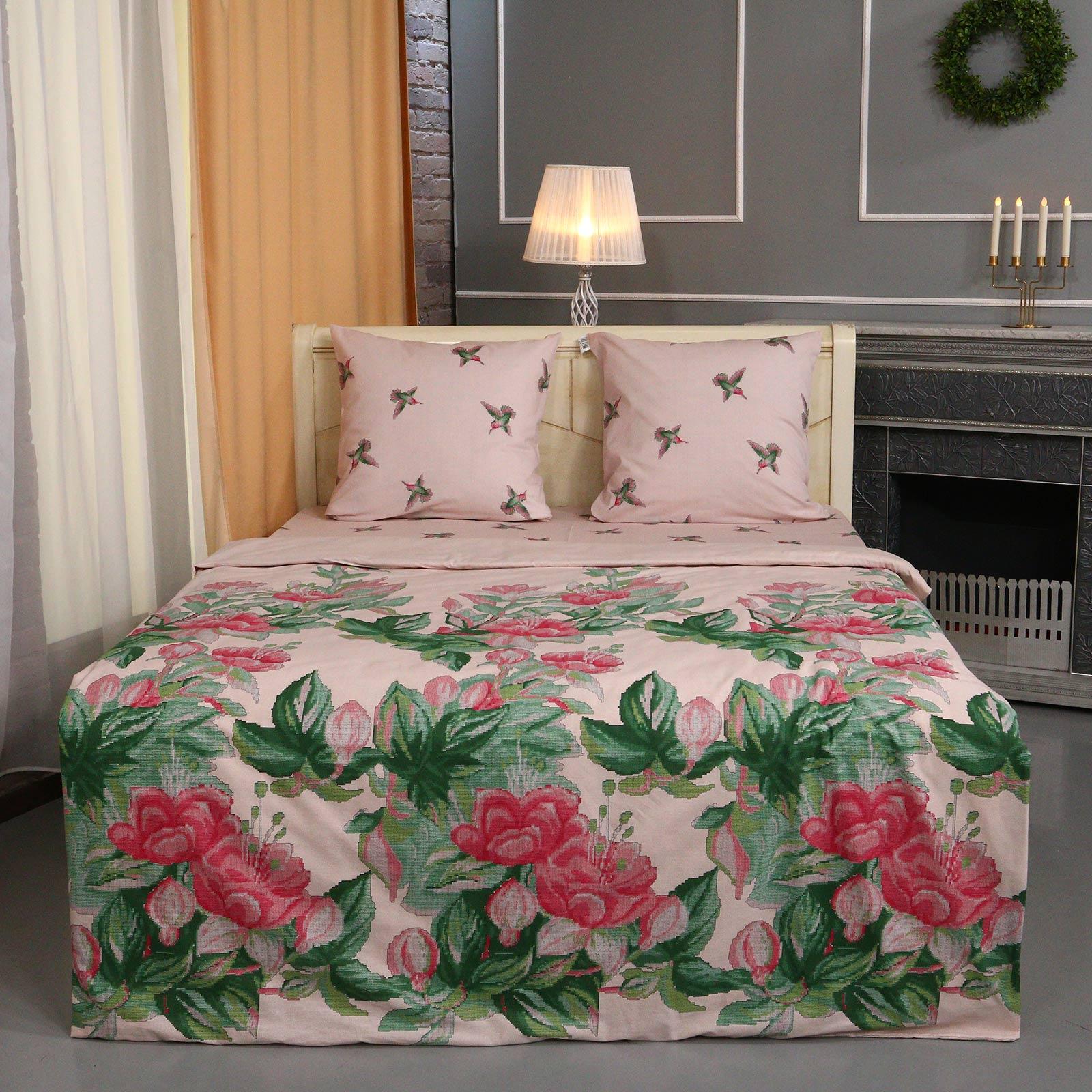 Комплект постельного белья Колибри любимый дом 5 спальное био комфорт колибри