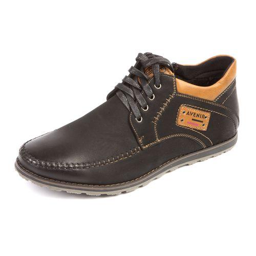 Мужские ботинки декорированные строчкой