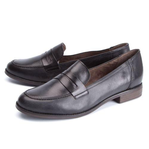Туфли женские на низком каблуке украшенные стильным ремешком