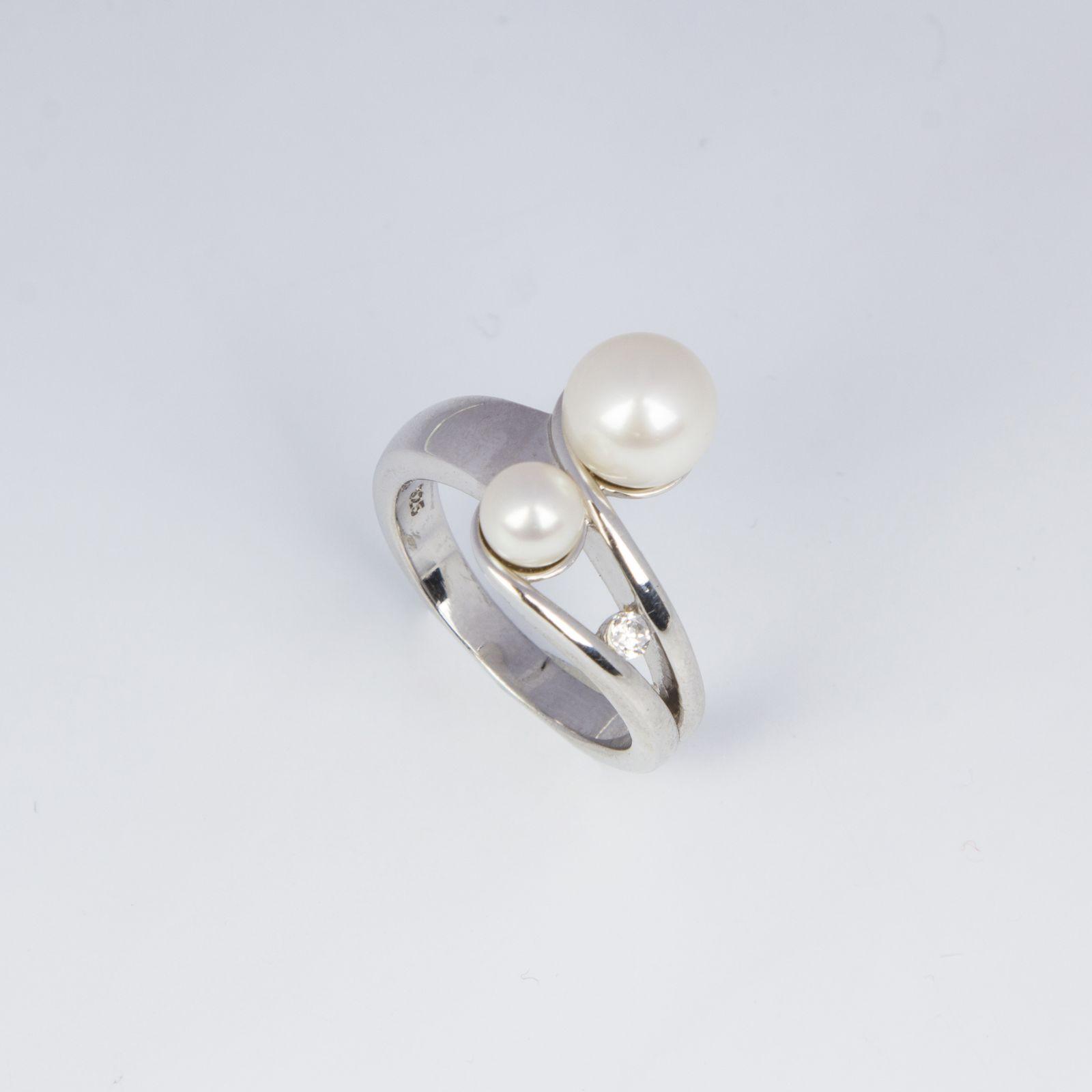 Кольцо «Двойные жемчужинки»