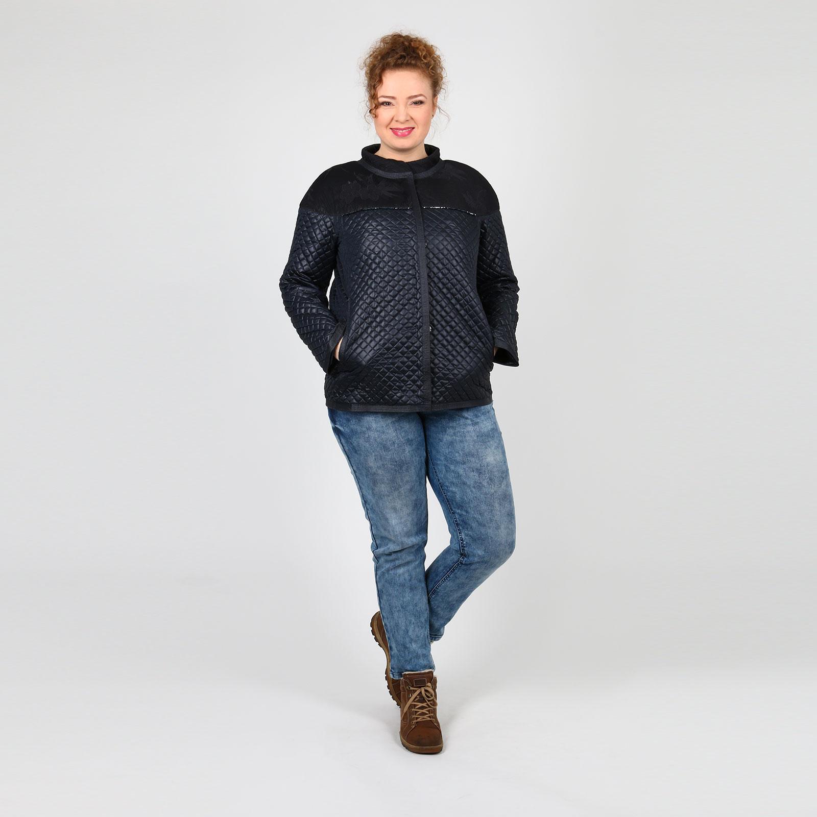 Куртка стеганая с декоративной сеткой