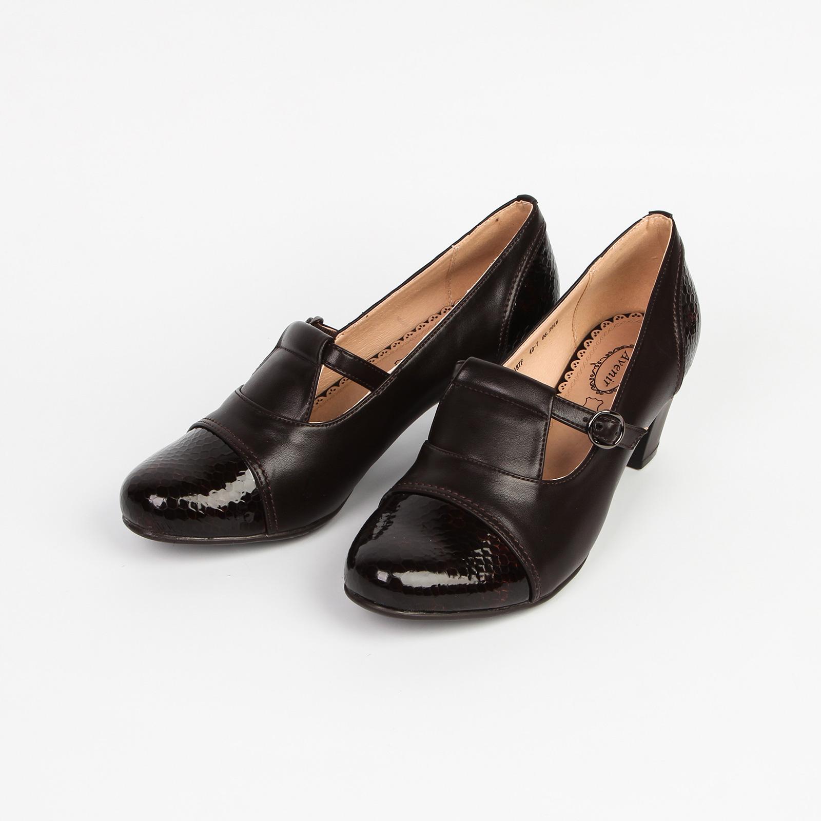 Туфли женские с лакированным  мысом