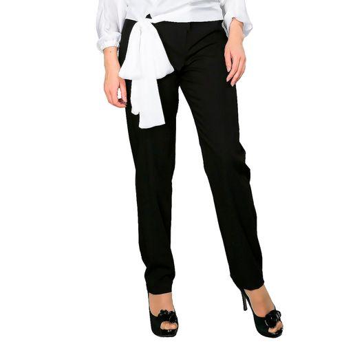Прямые брюки с декоративной строчкой
