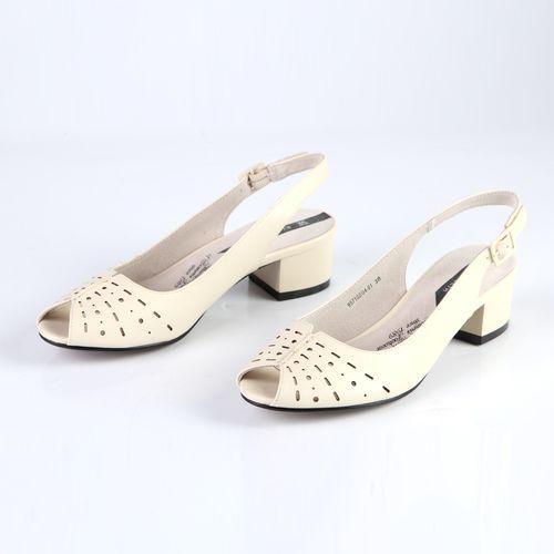 Женские босоножки с декорированным мысом, на комфортном каблуке