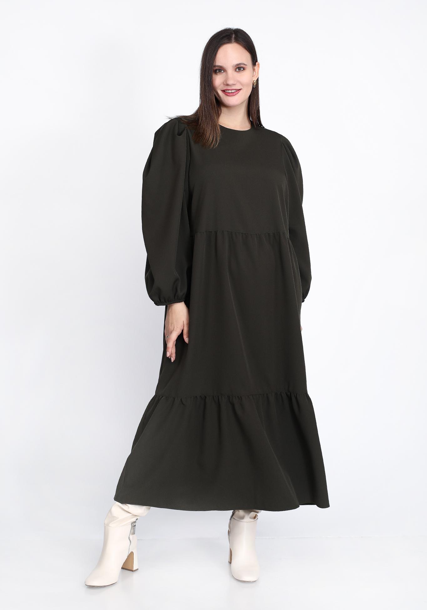 Платье с завышенной талией свободного силуэта