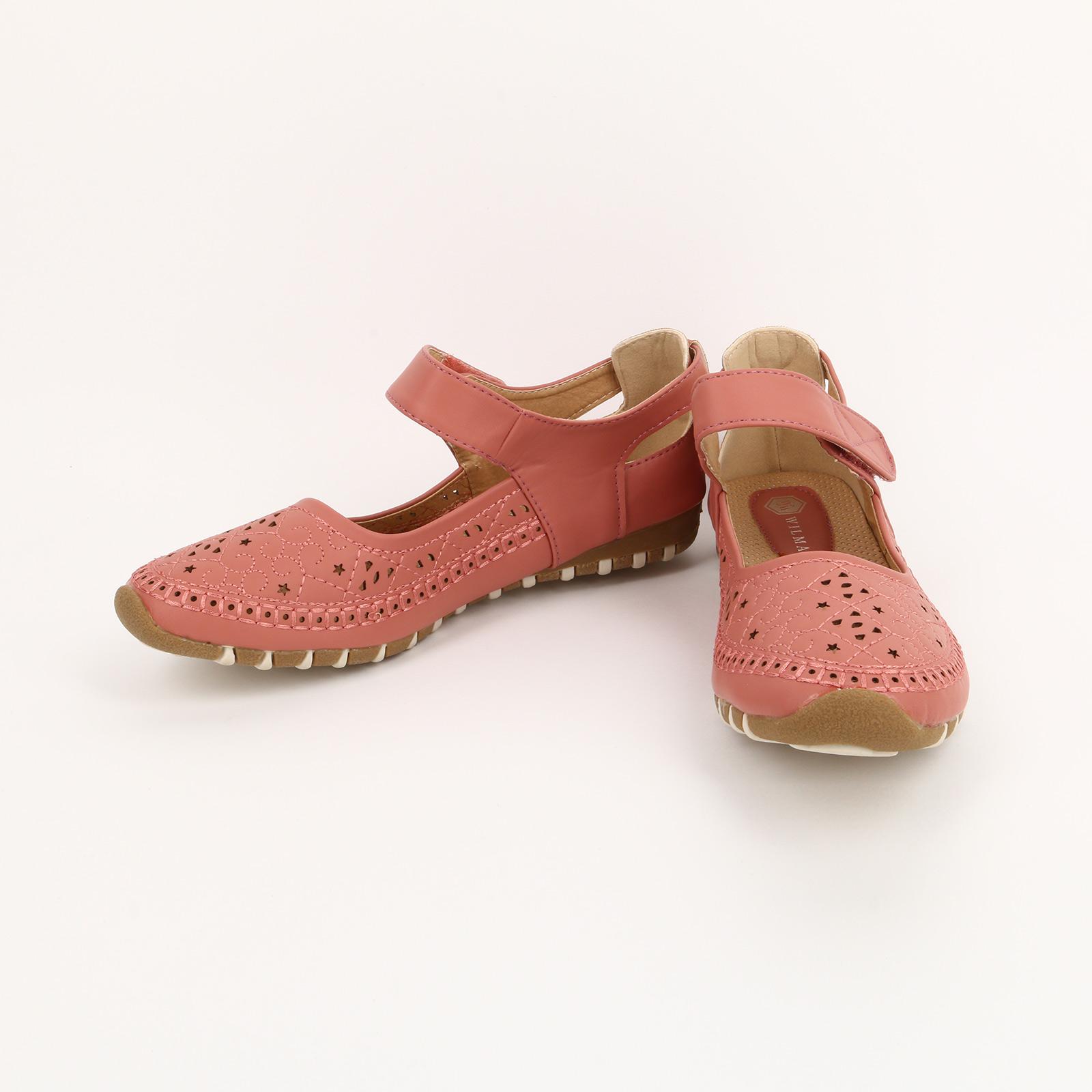 Туфли перфорированные на застежке