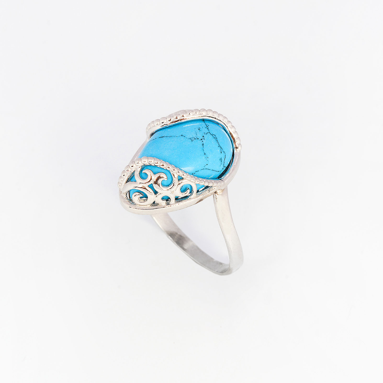 Серебряное кольцо «Бархатный вечер»