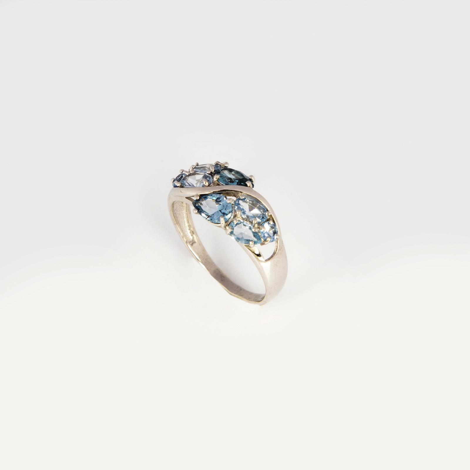 Серебряное кольцо «Лютики»