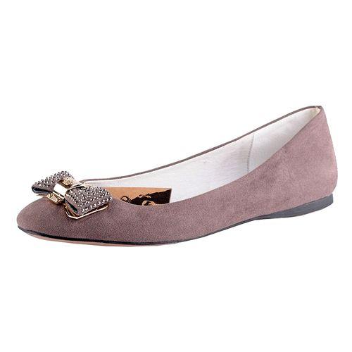 Женские туфли с бантиком со стразами
