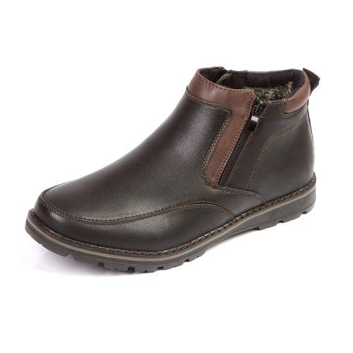 Мужские зимние ботинки со вставками