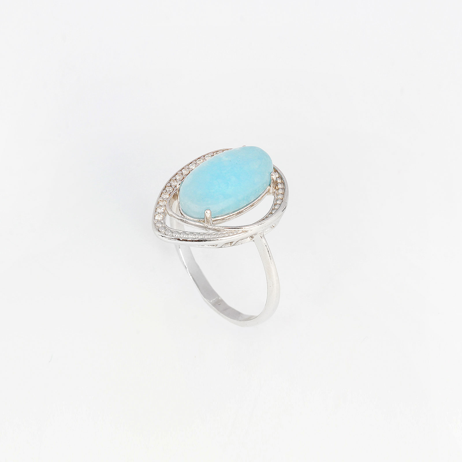 Серебряное кольцо «Лунное сияние»