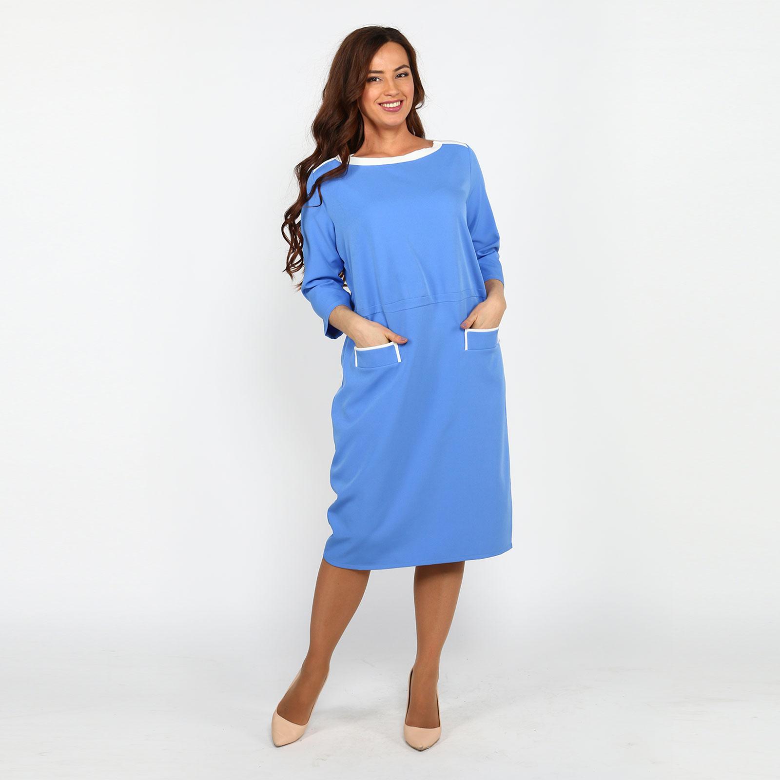 Платье с контрастной отделкой и карманами рубашка gerry weber gerry weber ge002ewwra96