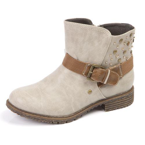 Женские зимние ботинки с ремешком