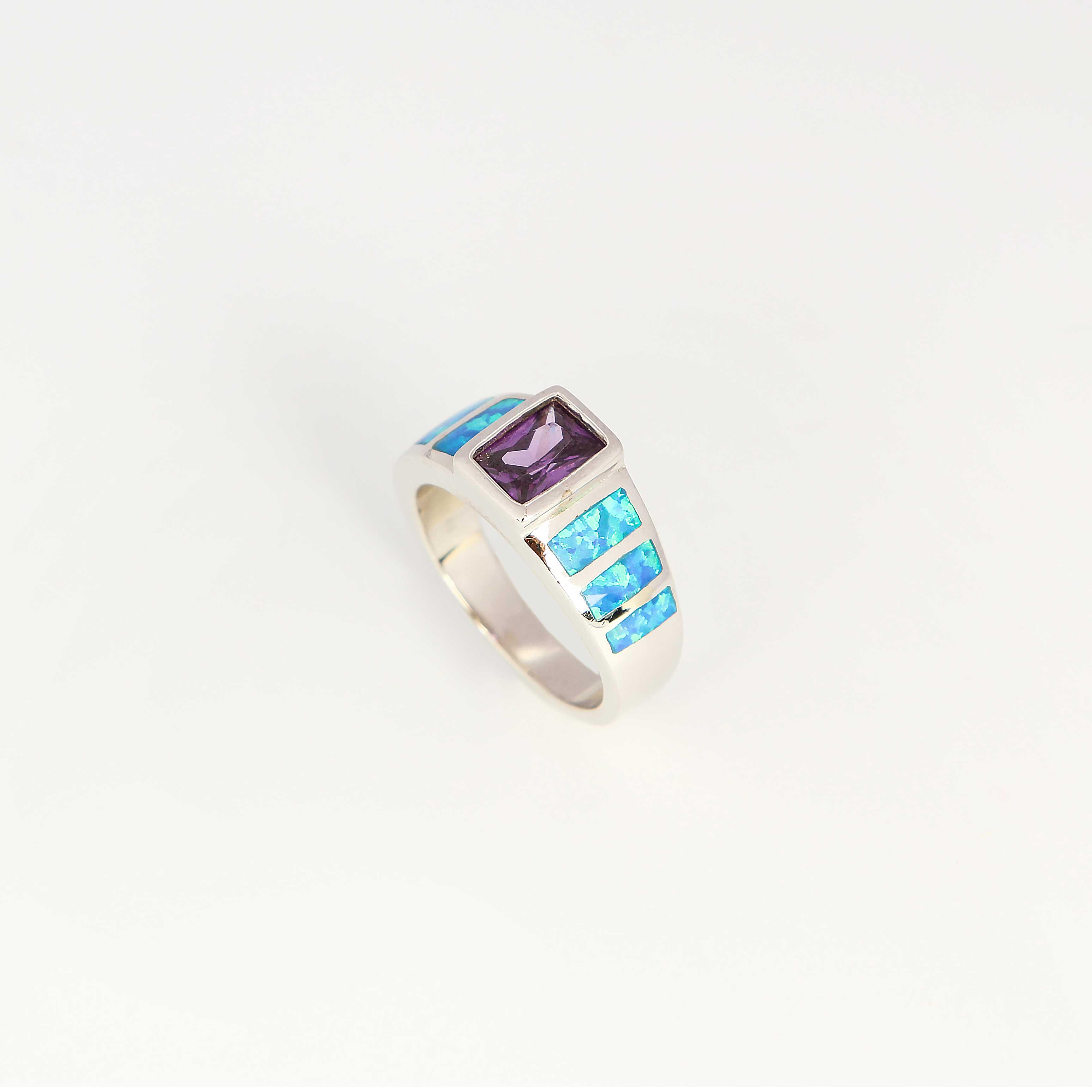 Серебряное кольцо «Голубая фортуна»
