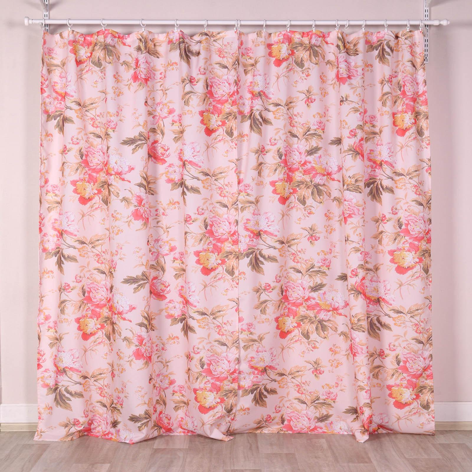 """Комплект штор """"Розовый цветок"""""""