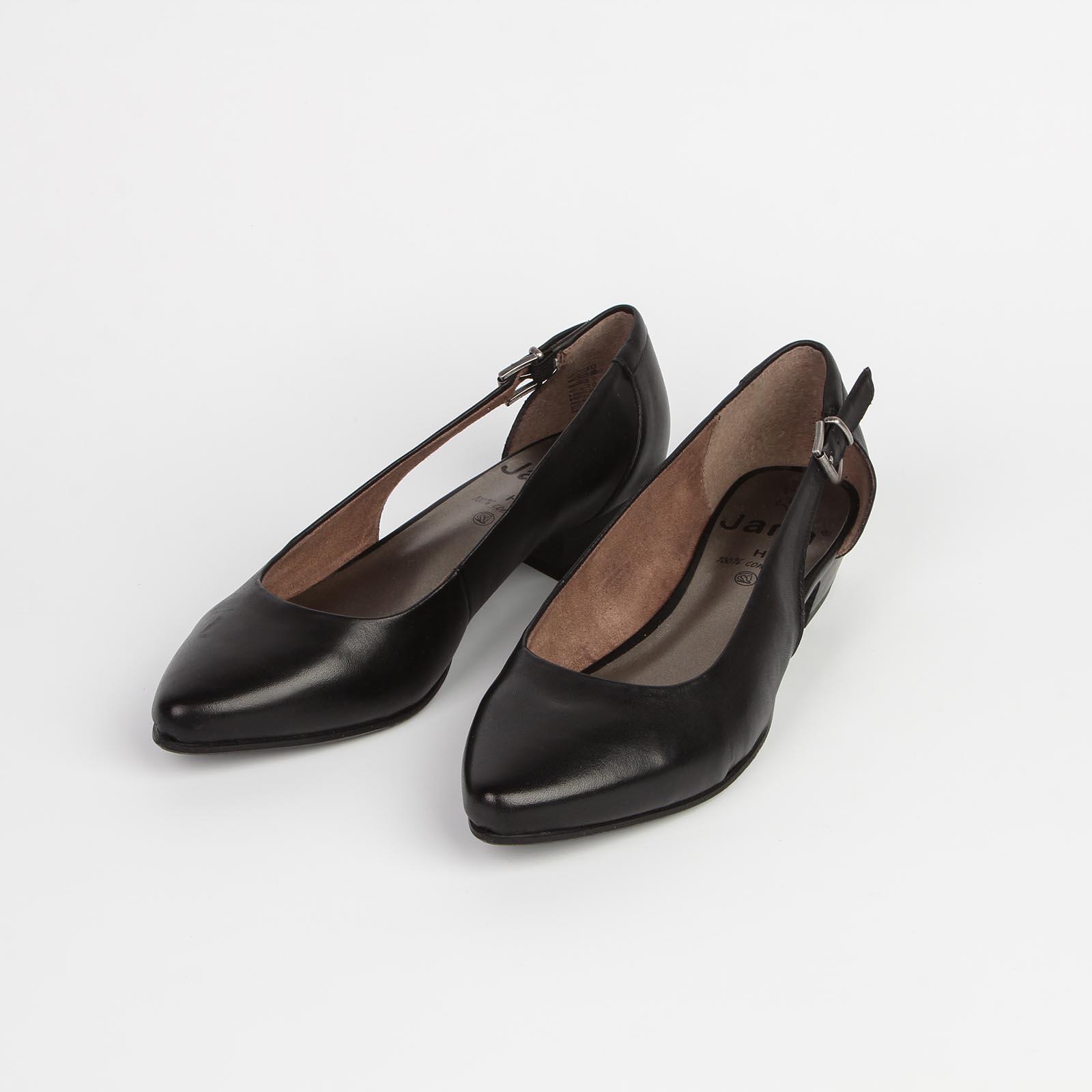Туфли женские из натуральной кожи с регулируемым ремешком на боку
