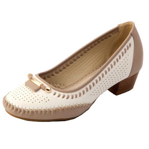 Туфли с перфорацией на каблуке