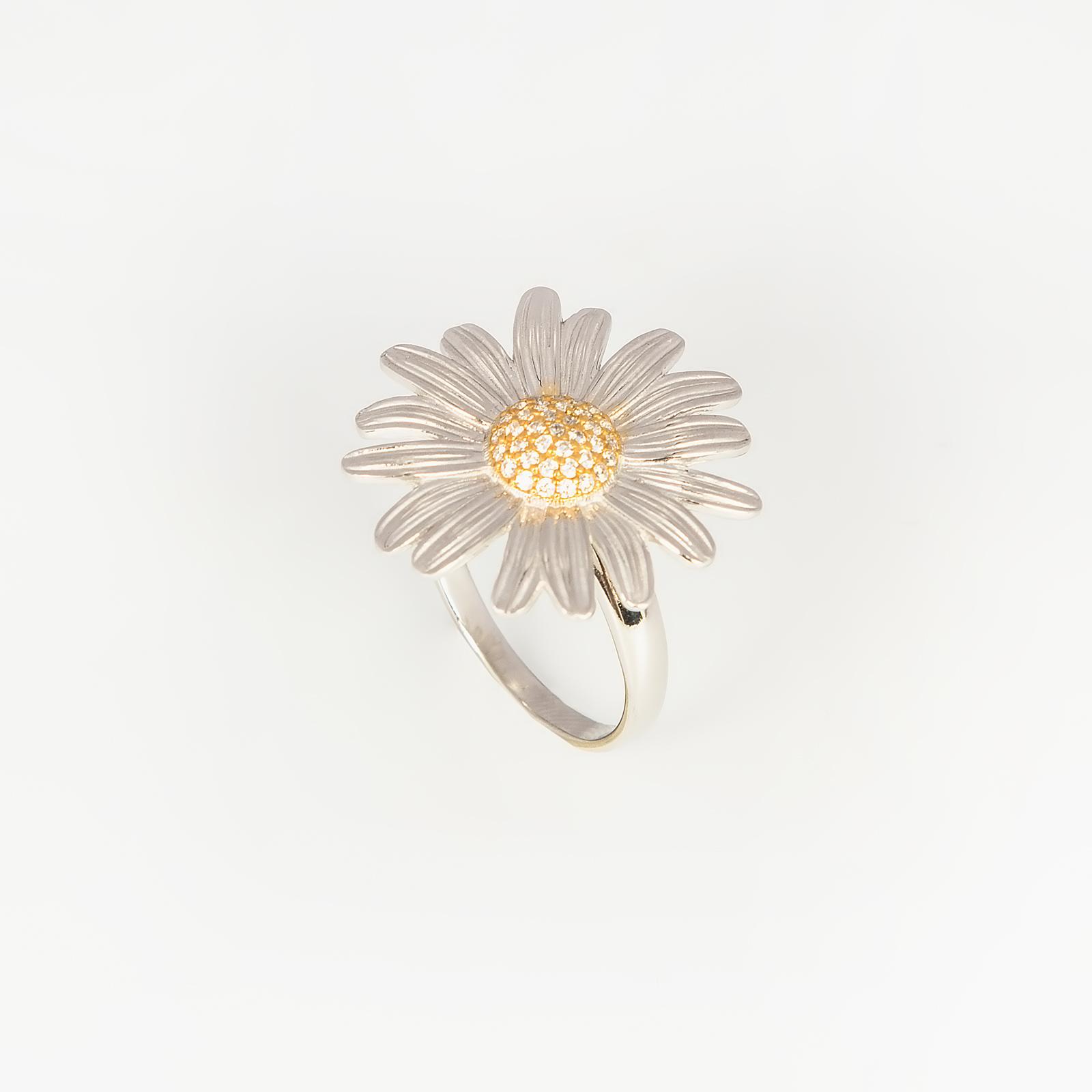 Серебряное кольцо «Ромашковое поле»