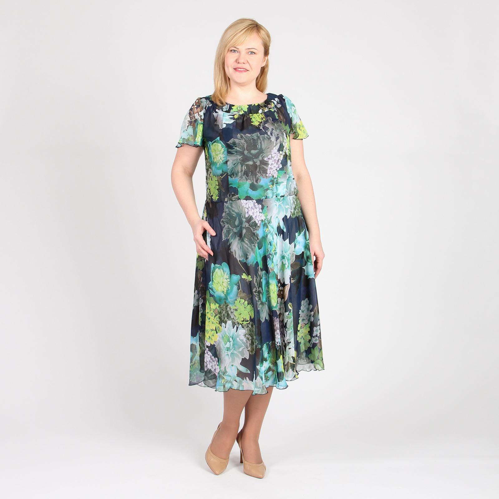 Платье из шифона на подкладке свободного силуэта рубашка gerry weber gerry weber ge002ewwra96