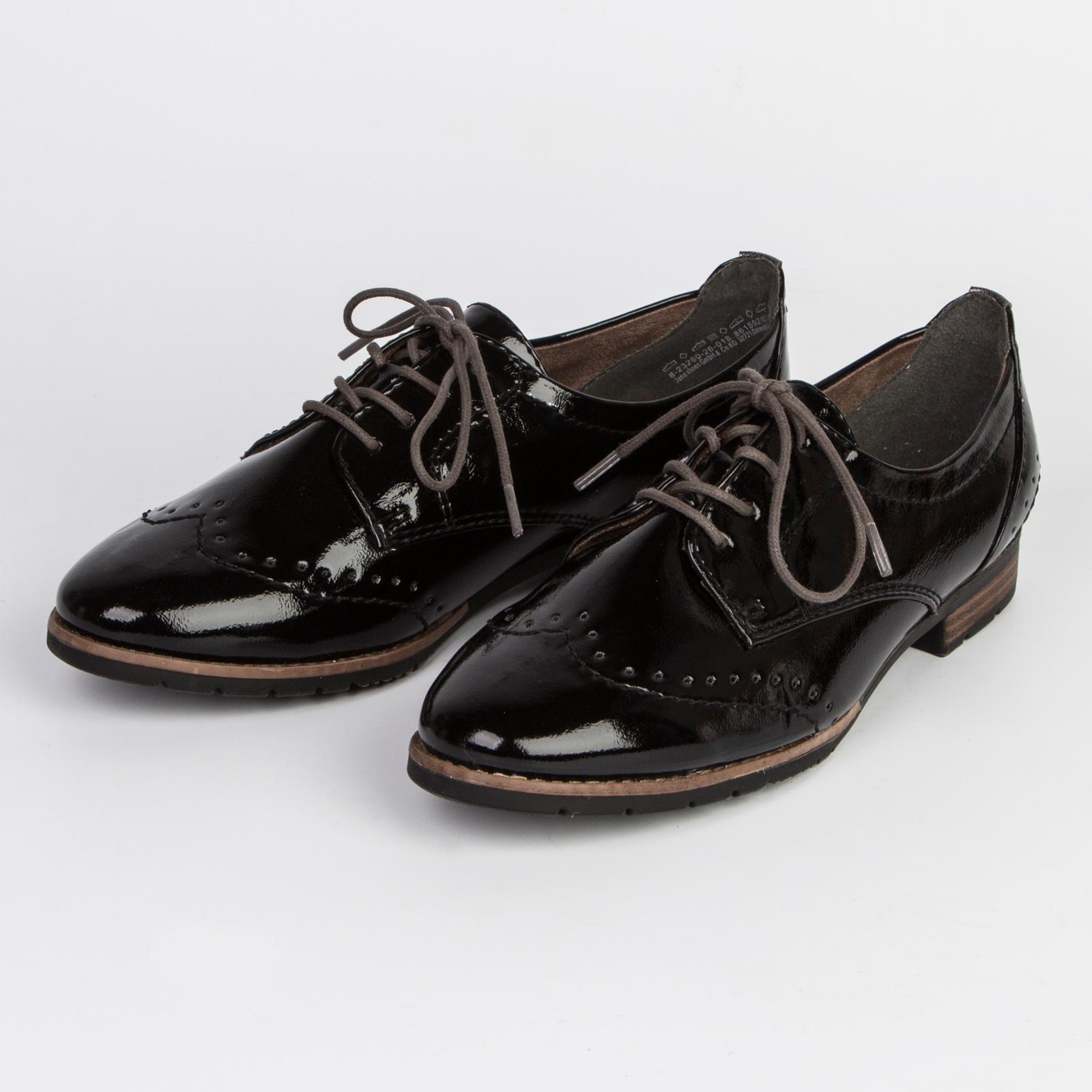 Ботинки женские на шнуровке украшенные перфорацией