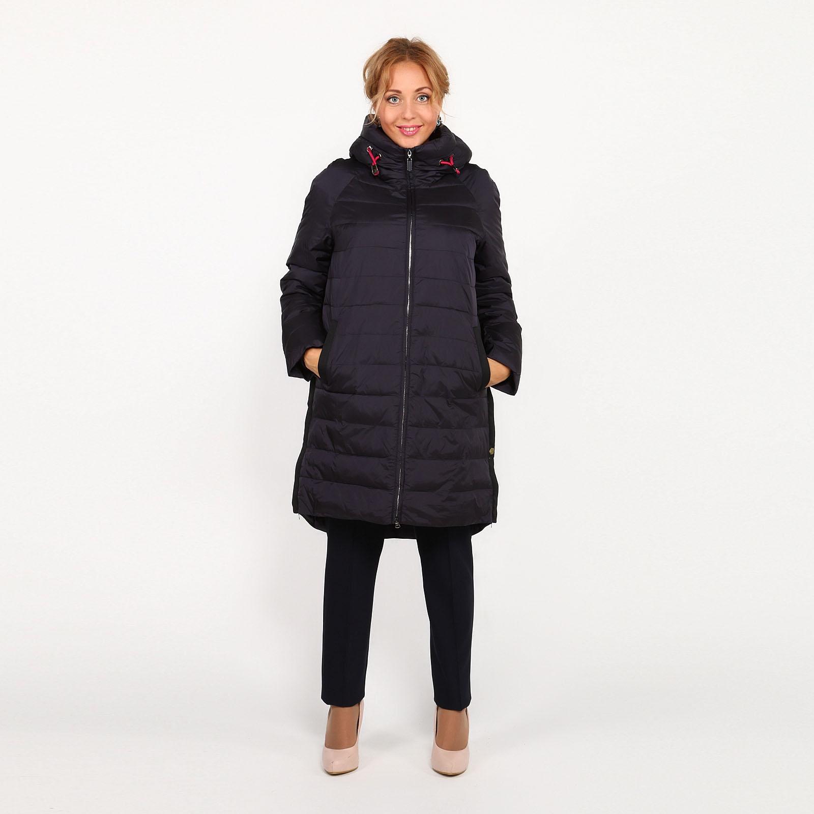 Куртка с молниями и удлиненной спинкой