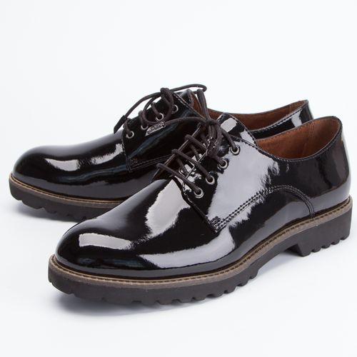 Ботинки женские лакированные с функциональной шнуровкой