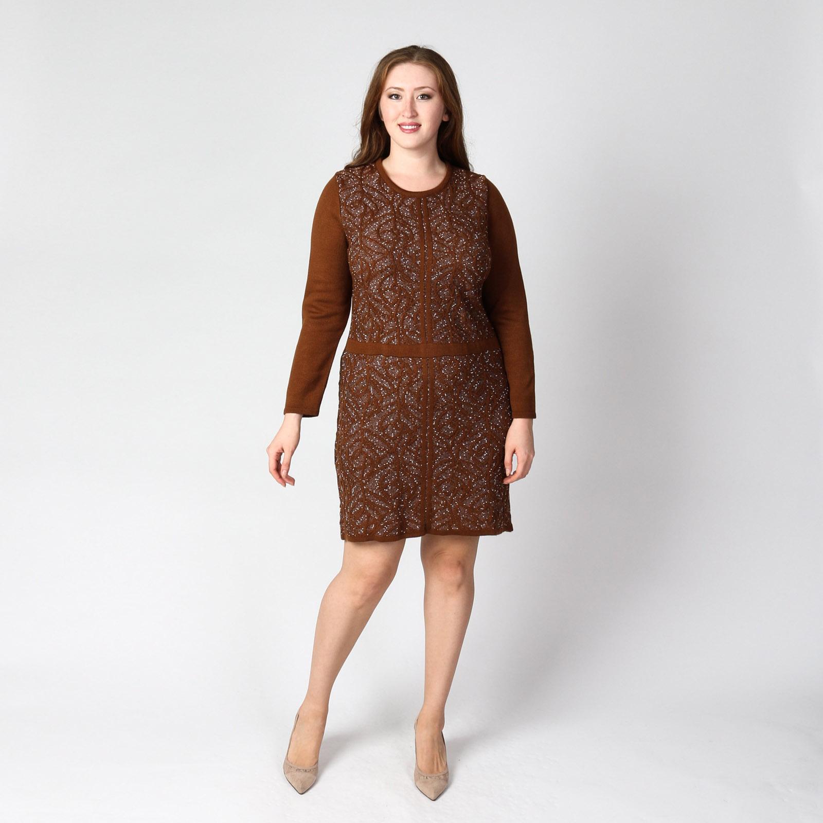 Платье с оригинальным фактурным узором