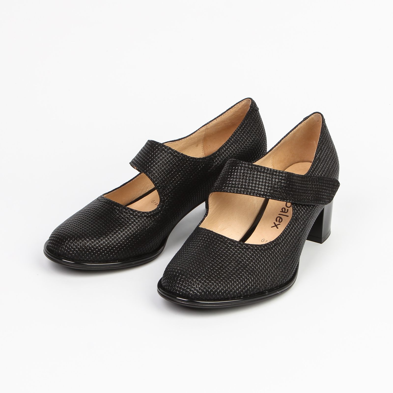 Туфли женские из натуральной кожи на липучке