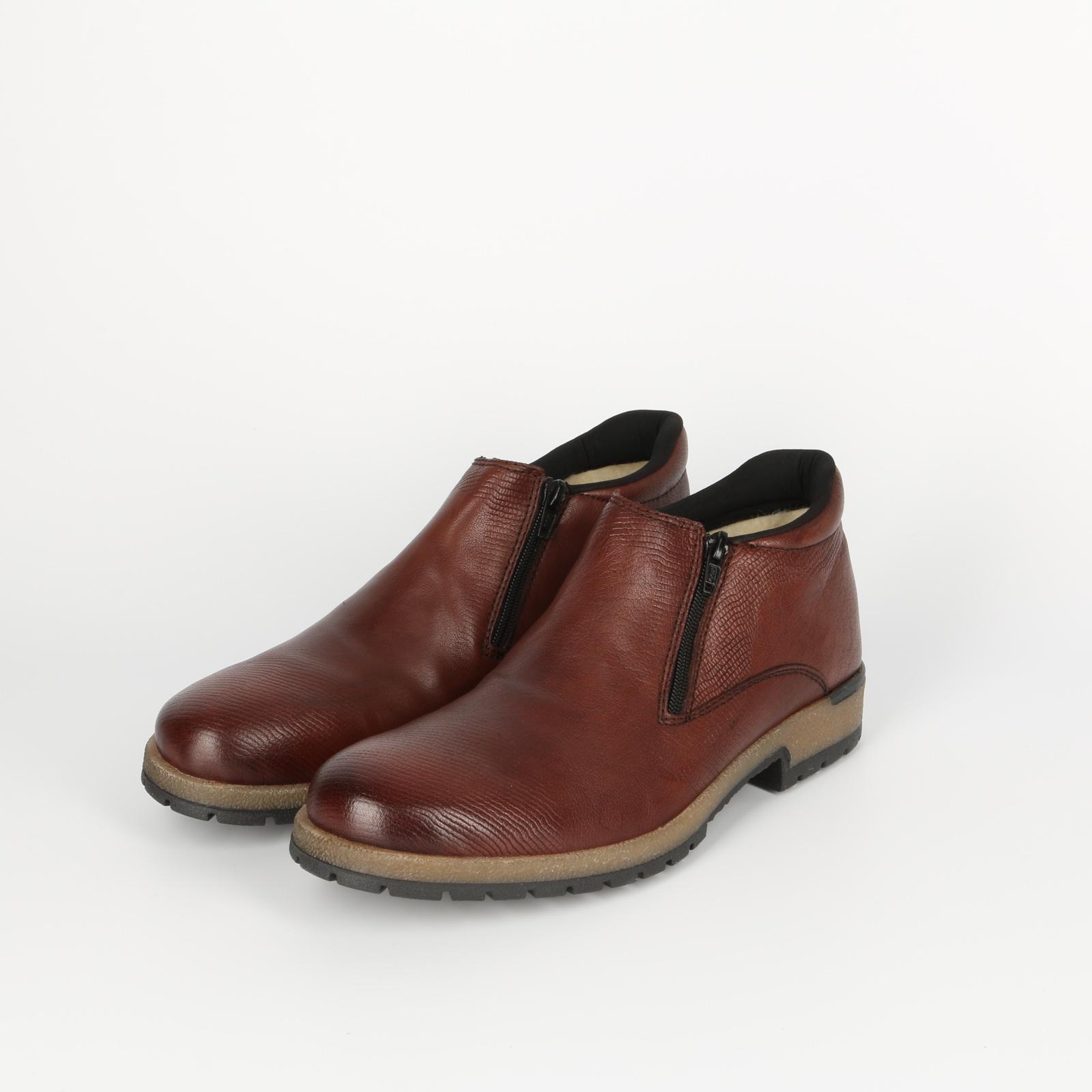 Ботинки мужские с декоративным рисунком