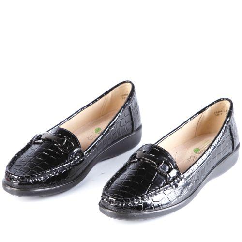 Туфли женские с тиснением под рептилию дополненные фурнитурой
