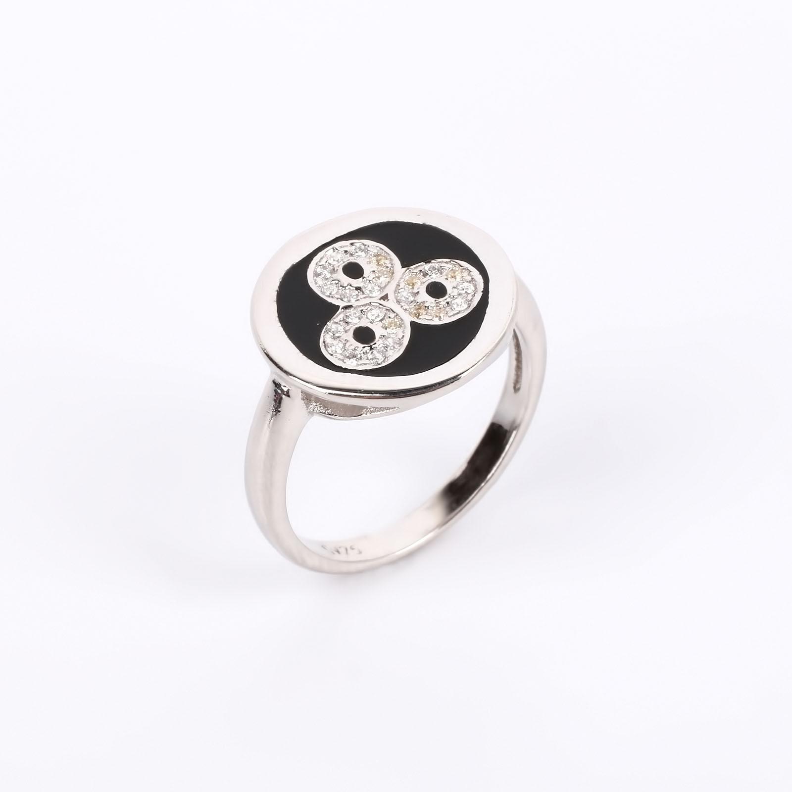 """Серебряное кольцо """"Звездный хоровод"""""""