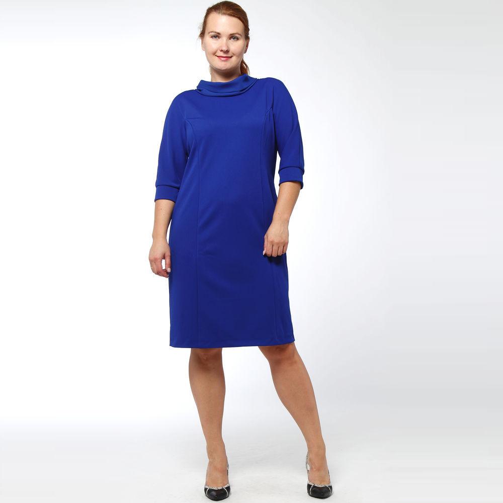 Платье-миди из фактурной ткани с шифоновым воротником