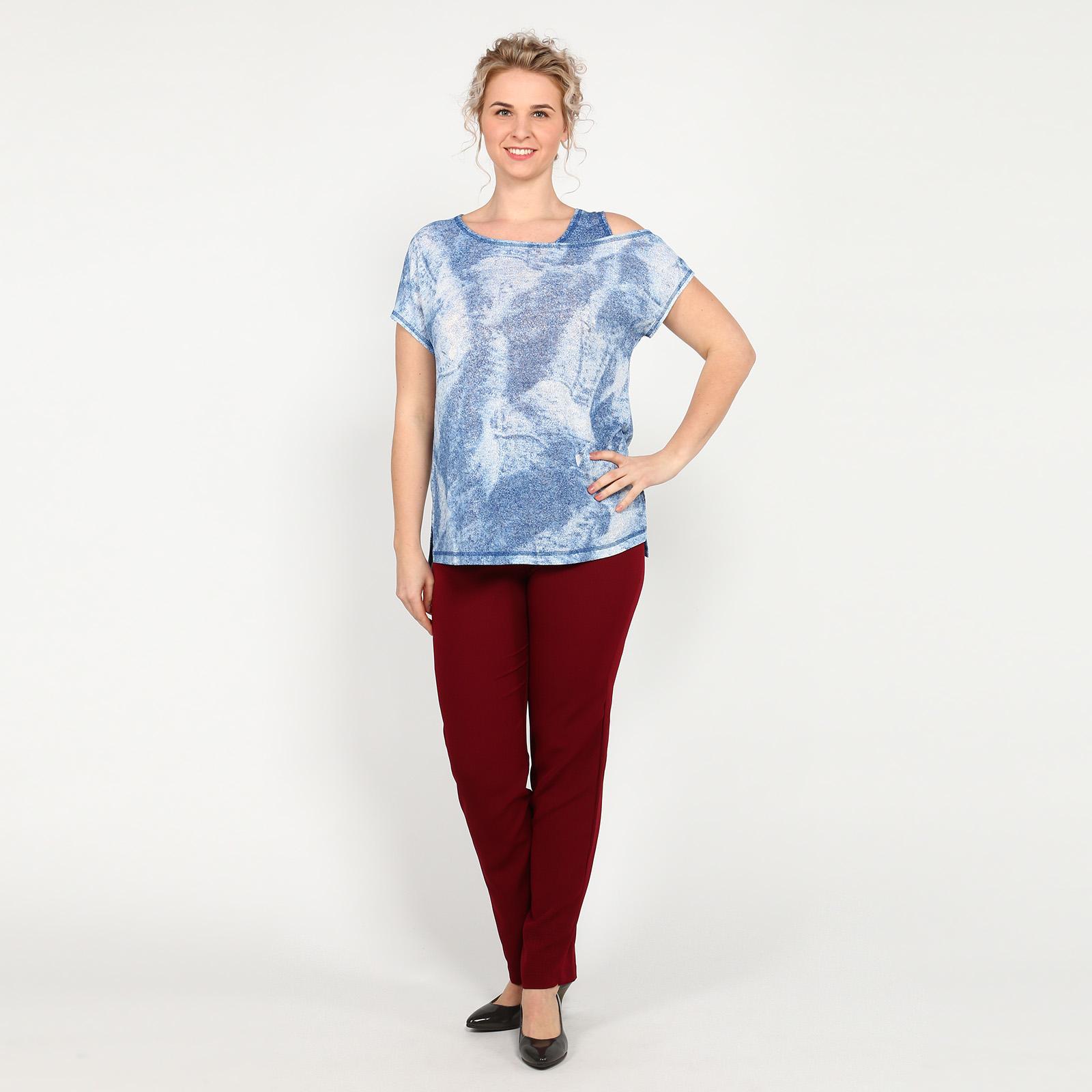 Блуза оригинального кроя с удлиненной спинкой