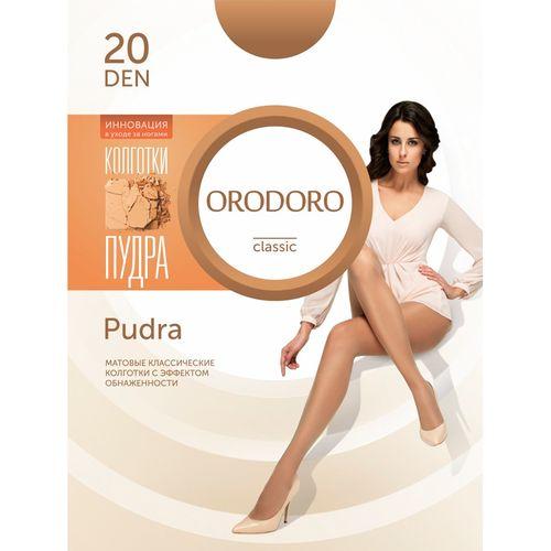 Комплект матовых классических колготок с эффектом пудры Orodoro