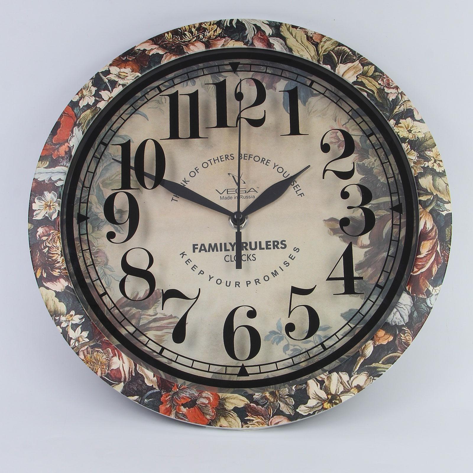 """Часы настенные """"Экзотические цветы"""""""