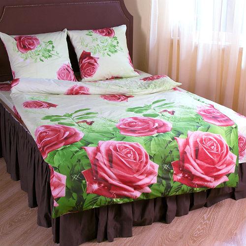 Комплект постельного белья «Зима-Лето. Роза и Сакура»
