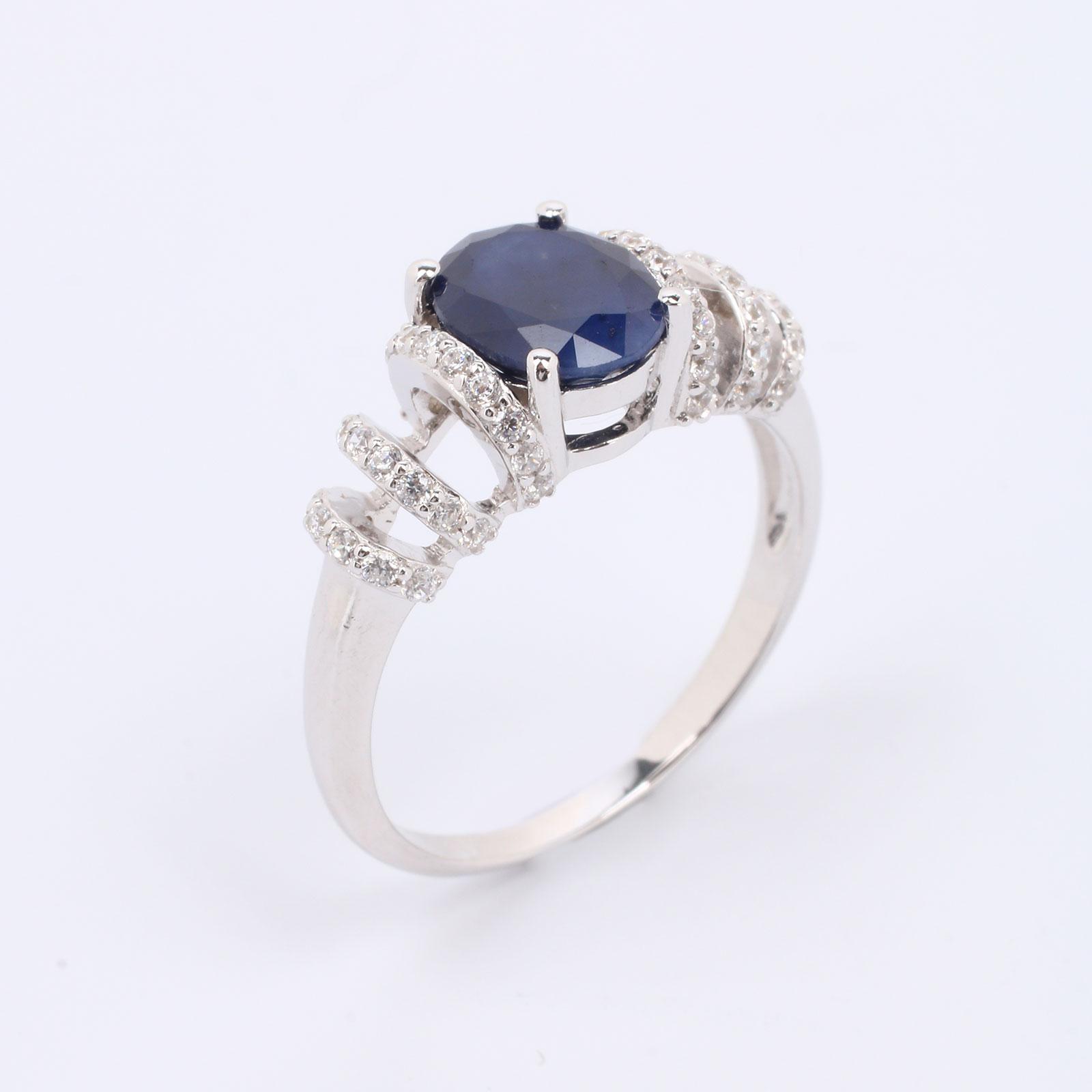 Серебряное кольцо «Сердце океана»