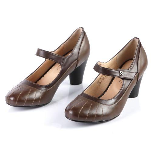 Женские туфли с элегантным ремешком на липучке