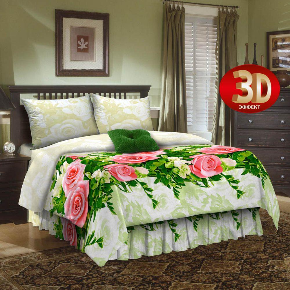 Комплект постельного белья «Розы 3D»