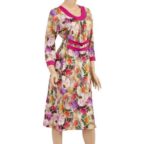 Платье с принтом «Волшебные розы»