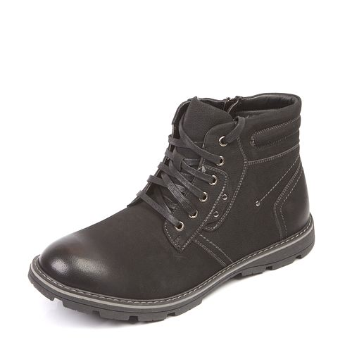 Мужские ботинки на шнуровке с потертым мысом