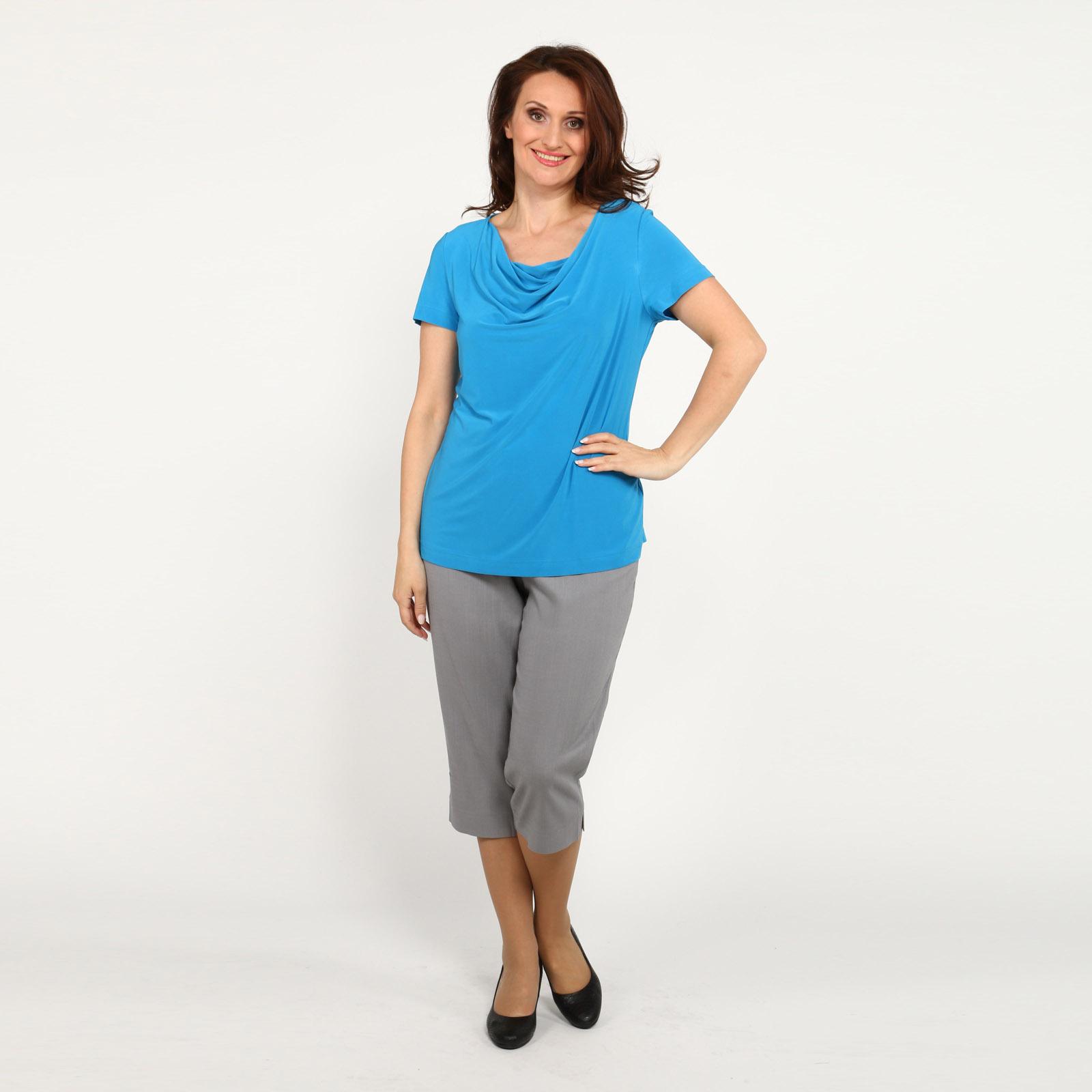 Блуза полуприталенная с коротким рукавом