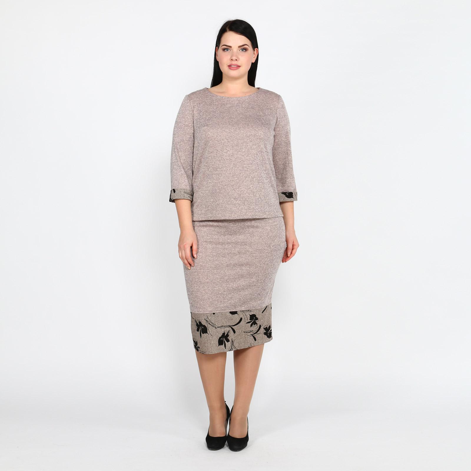 Фото - Блузка со вставками тенсельная блузка со стиркой