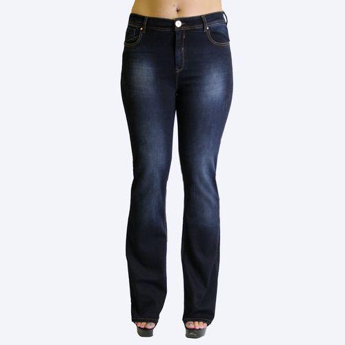Однотонные джинсы-клеш с высоким поясом